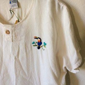 Vintage Shirts - Carlos Cerda Vintage Tucan Short Sleeve Shirt